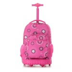 Trolley Backpack, Rolling Rucksack, Roller Daypack, Wheeled Haversack, Travel Laptop Knapsack, School Bag